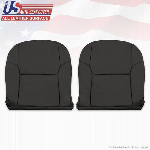 For 2003-2009 Toyota 4Runner Driver Passenger Bottom Black Leather seat Cover