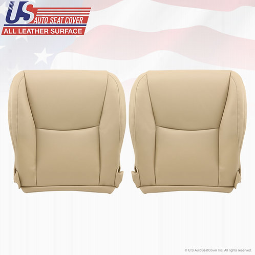 Driver & Passenger Bottom Leather Seat Cover Ivory Tan 2003 to 2009 Lexus GX470