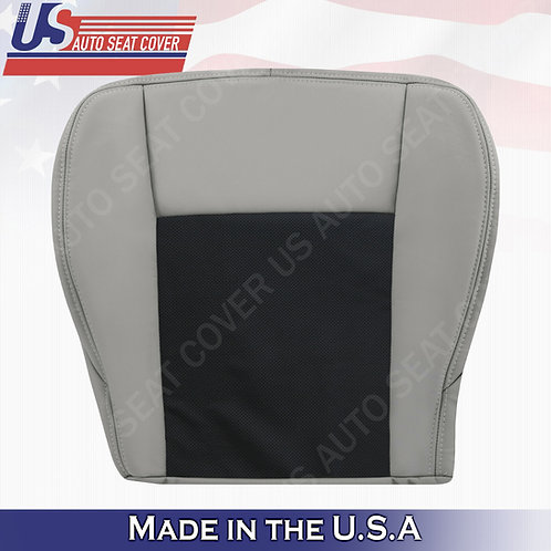 2003-07 Cadillac CTS Passenger Bottom Perforated Leather Seat Cover Black/Gray