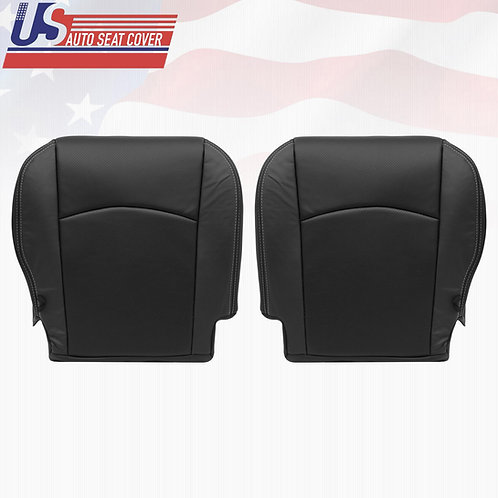 2009-2012 DODGE RAM LARAMIE  BOTTOMS LEATHER PERFORATED SEAT COVER BLACK