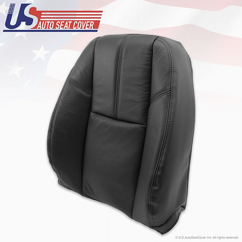 2007-2012 Chevy Passenger Top Lean Back Leather Seat Cover Black