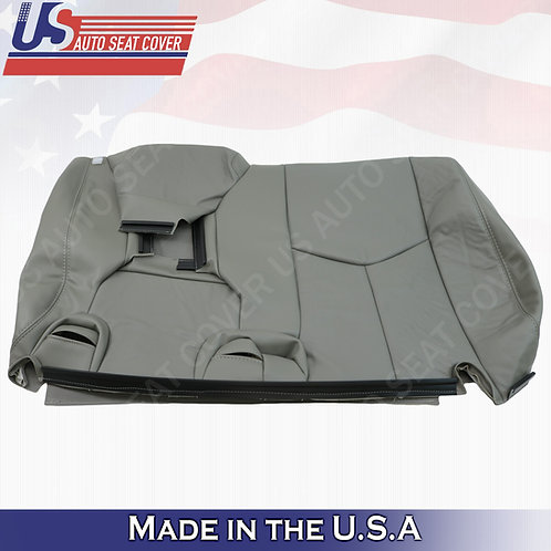 2003-2006 Chevy Tahoe Suburban REAR 60' Top Leather Seat Cover Gray