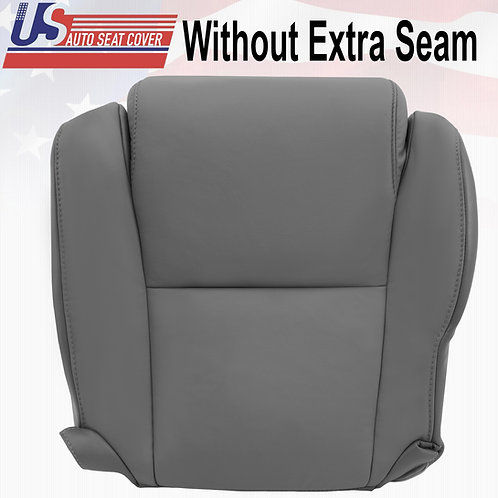 2007-2013 Toyota Tundra Driver Bottom Gray Leather Replacement Seat Cover