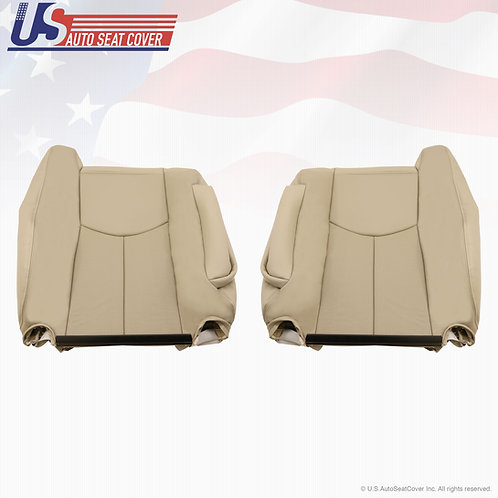2003 2004 2005 2006 Cadillac Escalade Front Tops Perforated Seat Cover Shale Tan