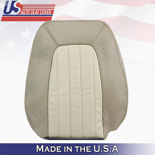2002-2005 Mercury Mountaineer Passenger Top Perforated Leather Cover 2-tone Tan