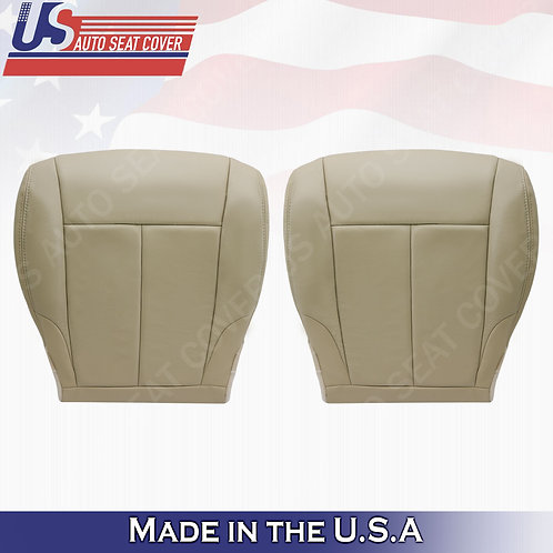 For 2007-2012 Nissan Altima Driver & Passenger bottom leather seat cover Tan