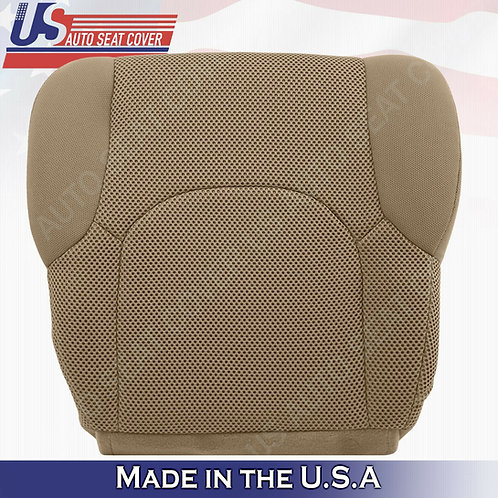 2005-2019 Passenger Bottom Tan Cloth Seat Covers FITS: Nissan Frontier S, SV, XE