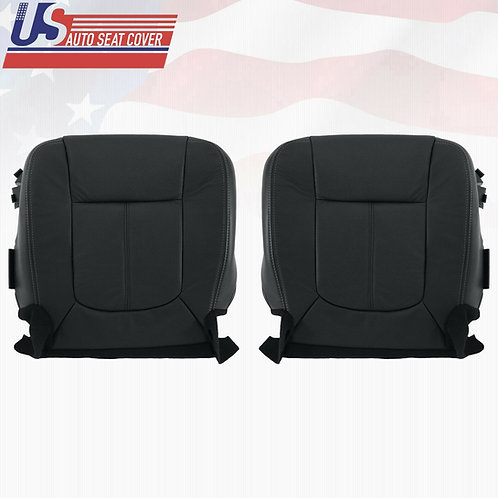 2011-2016 Ford F450 F550 Lariat Bottoms PERFORATED Leather Seat Cover Black