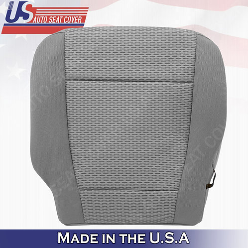2015-2019 Ford F-150 XLT- Driver Side Bottom Replacement Cloth Seat Cover Gray