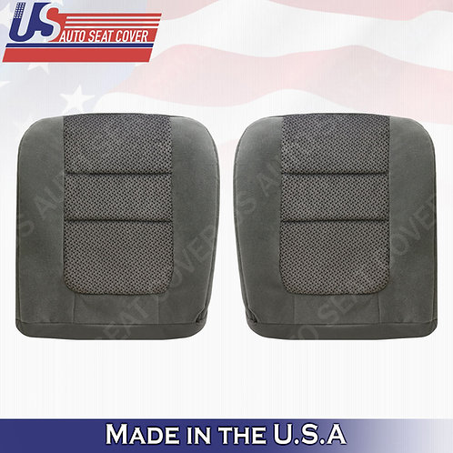 2001 Ford F-250 XLT DRIVER & PASSENGER Bottoms Cloth Seat Cover Gray