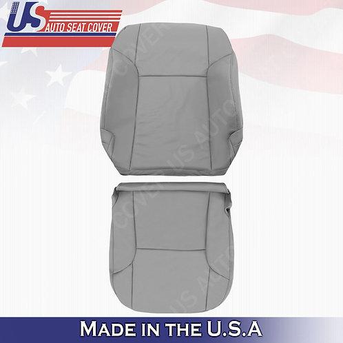 For 2003 -2009 Toyota 4Runner Passenger Top & Bottom leather seat cover Gray