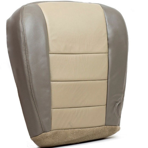 2002 2003 2004 Ford Excursion Driver Bottom Leather Seat Cover 2 tone tan