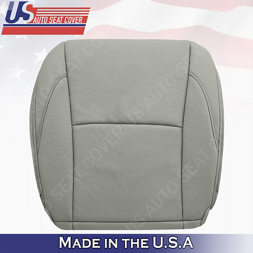 For 2007-2012 Lexus ES350 Passenger Bottom Perforated Leather Seat Cover Gray