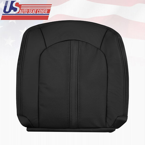 2008-2013 Cadillac CTS Passenger Bottom Leather Seat Cover in Black (PERFORATED)