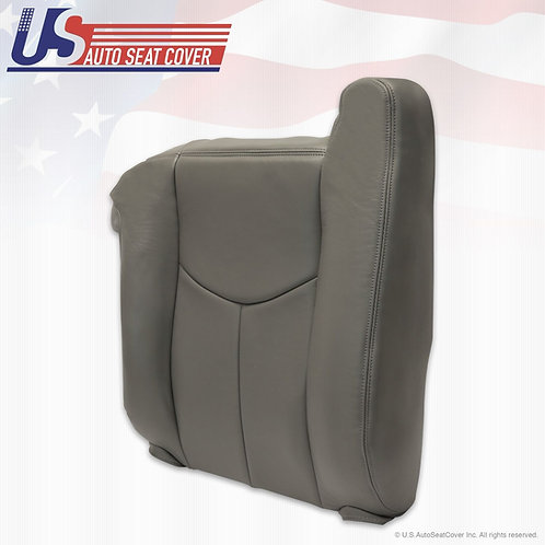 2003 to2006 Chevy Silverado Sierra Passenger top Leather Seat cover pewter gray