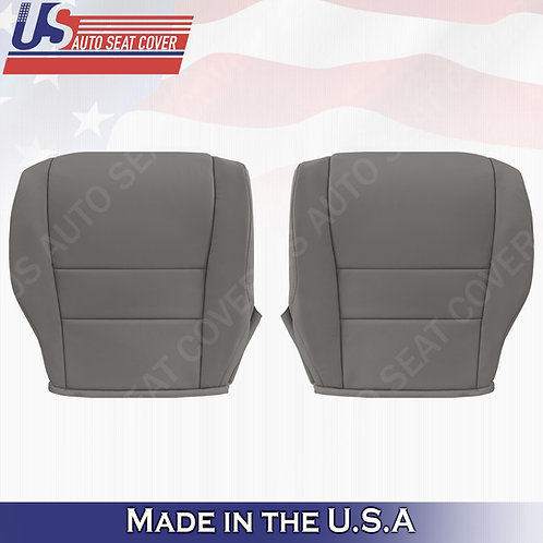 Fits 2007-2011 Honda CR-V Driver & Passenger Bottom Leather Seat Cover Gray