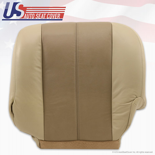 2000 2001 2002 GMC YUKON DENALI DRIVER BOTTOM LEATHER SEAT COVER 2-TONE TAN