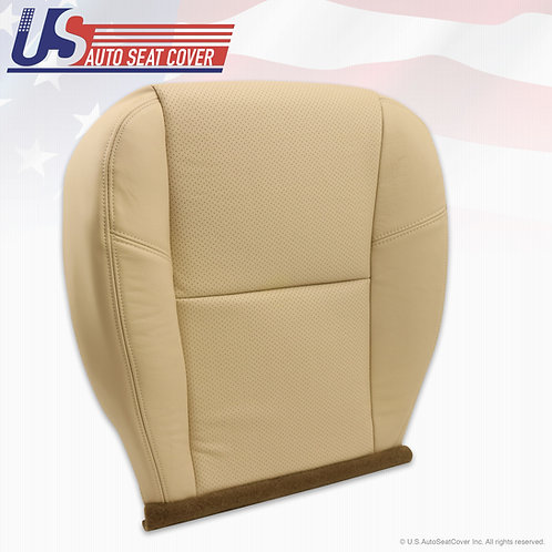 2009-2014 Cadillac Escalade Driver Botom Perforated Leather Cover Light Chasmere