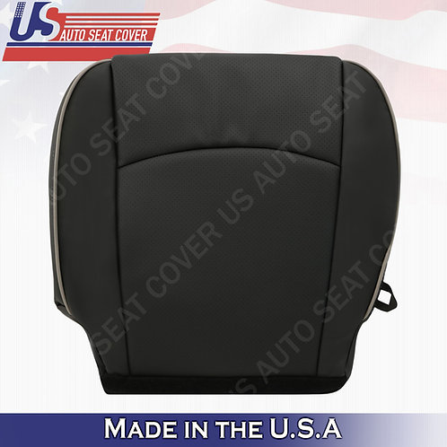 2009-2012 Dodge Ram LARAMIE LIMITED Driver Bottom Perf. Leather Cover Dk Gray