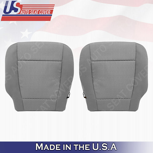2015-2019 Ford F-150 XLT- Driver & Passenger Side Bottom Cloth Seat Cover Gray