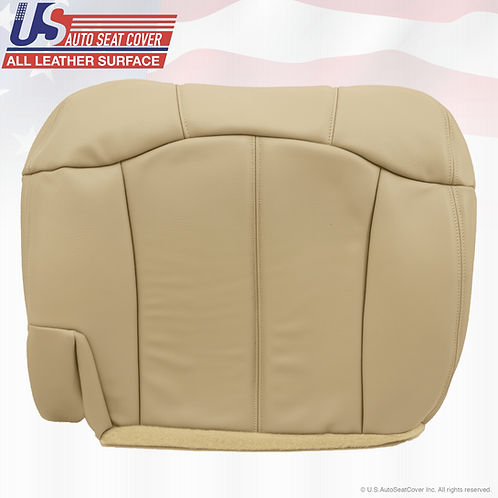 1999-2002 Chevy Tahoe Suburban Second Row Bottom Leather Seat Cover Tan