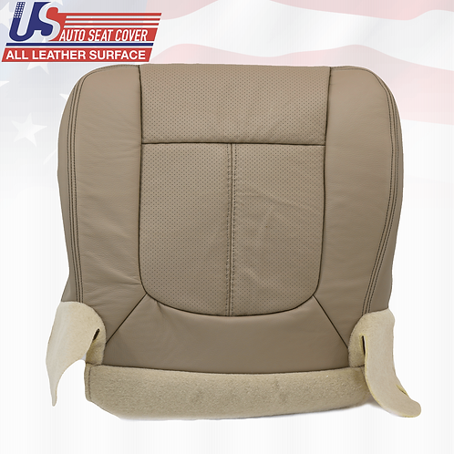 2011 to 2016  Ford F250 Lariat Driver Bottom Perforated Leather Seat Cover