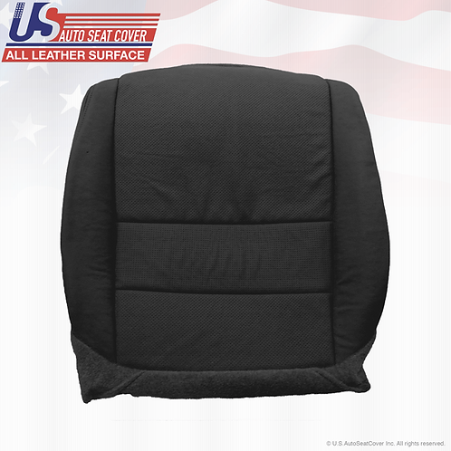 For 2004 - 2008 Acura TL Passenger Bottom Leather Seat CoveR BLACK