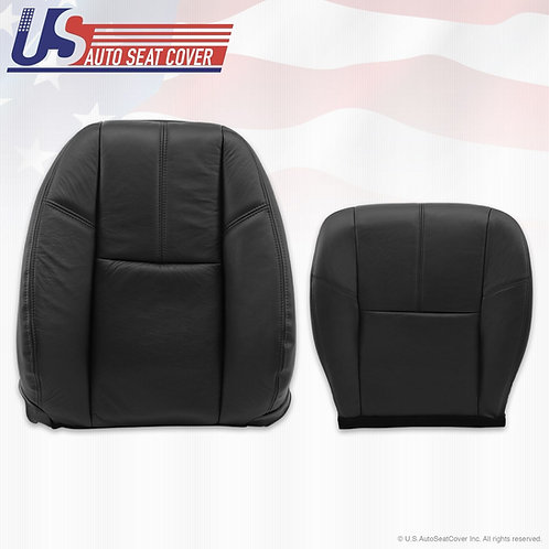 2007-2014 Chevy Tahoe Top/Bottom Leather Seat Cover in Black
