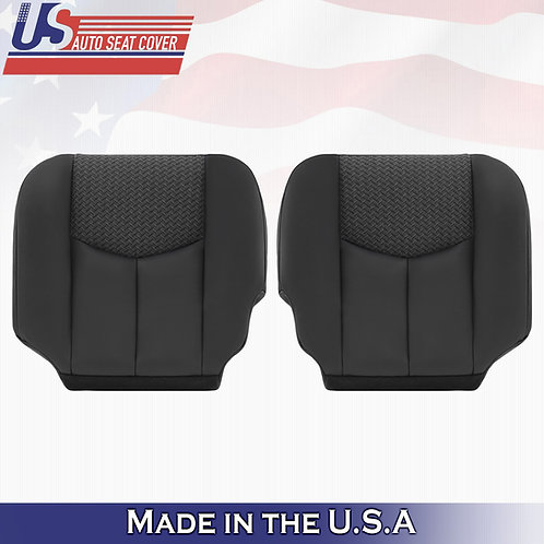 2003 2004 Chevy Avalanche Driver- Passenger Bottom Leather Seat Cover Dark Gray