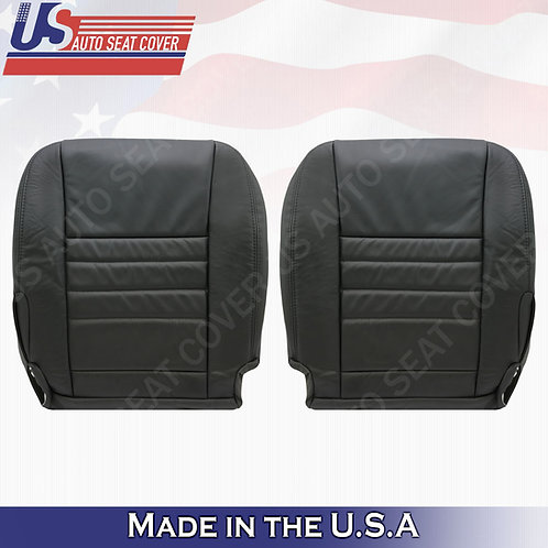 2011 - 2018 Dodge Charger Driver Passenger Bottom Leather Seat Cover Black