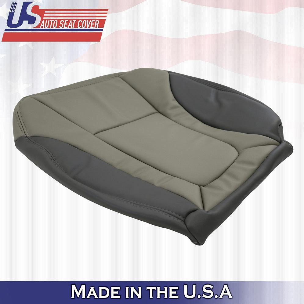 2002-2004 Chevy Trailblazer Driver & Passenger Bottom Leather Cover 2-TONE GRAY   usautoseatcover
