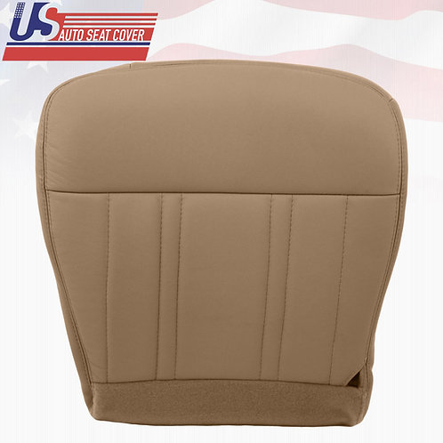 1997-1998 Ford F150 Lariat XLT With Leather Passenger Bottom Seat Cover Tan