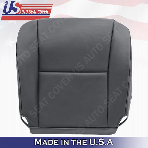 2005 Toyota Tundra, Sequoia Driver Side Bottom Leather Seat Cover in Gray