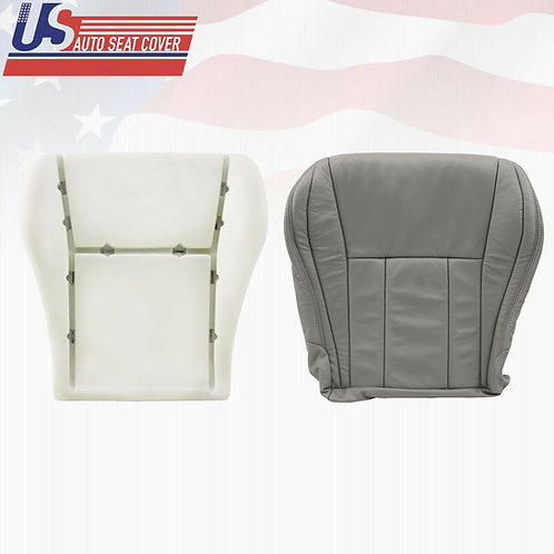 For 1996-2002 Toyota 4runner Leather Driver Bottom + foam Covers in Gray