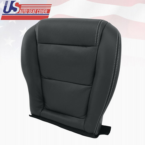 2001-2006 ACURA MDX DRIVER BOTTOM PERFORATED LEATHER SEAT COVER EBONY