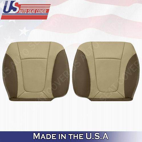 2002-2004 Chevy Trailblazer Driver Passenger Bottom Leather Cover 2-TONE Tan