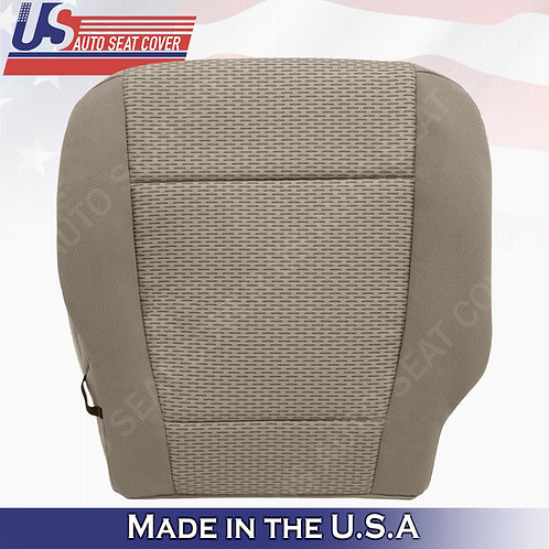 2015-2019 Ford F-150 XLT Passenger Bottom Cloth seat cover replacement in Tan