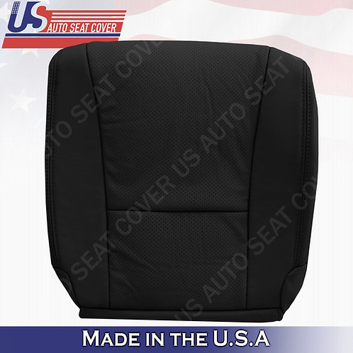 For 2007-2012 Lexus LS460 Passenger Bottom Perforated Leather Seat Cover Black