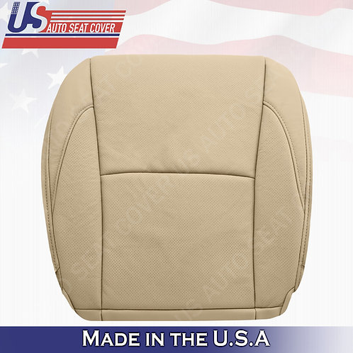 For 2007-2012 Lexus ES350 Passenger Bottom Perforated Leather Seat Cover Tan