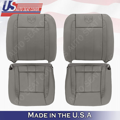 2006 -2009 Dodge Ram 2500 3500 Laramie Front Top(2) Bottom(2) Leather Cove Khaki