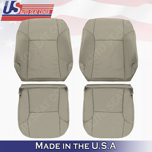 For 2003 -2009 Toyota 4Runner Front Driver & Passenger leather seat cover Taupe