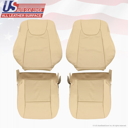 For 2010 2011 2012 Lexus RX350 Front Set Perforated Leather Seat Cover Tan