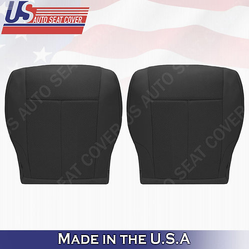 For 2007-2012 Nissan Altima Driver & Passenger bottom cloth seat cover Black