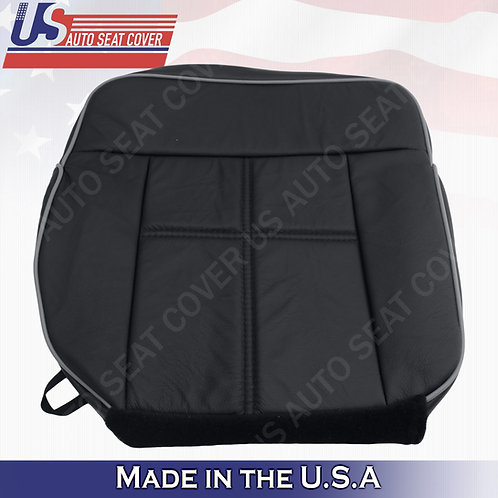 2006-2008 Lincoln Mark LT Passenger Bottom Leather Replacement Cover in Black