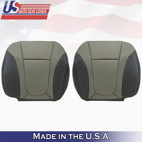 2002-2004 Chevy Trailblazer Driver & Passenger Bottom Leather Cover 2-TONE GRAY