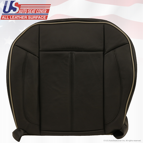 2006 - 2010 Hummer H3 Driver Side Bottom Replacement Leather Seat Cover Black