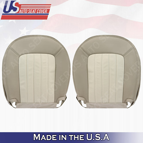 2002-2005 Mercury Mountaineer Driver Passenger Bottoms Perf. Leather Cover Tan