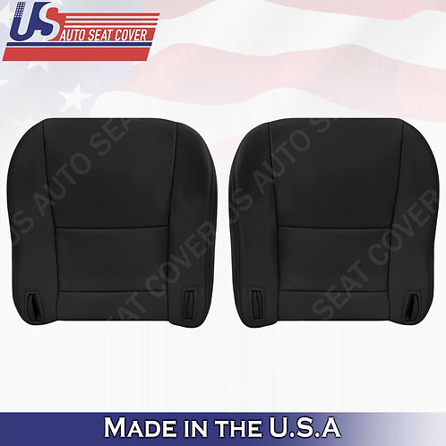 For 1997 to 2001 Lexus ES300 Driver & Passenger Bottom Leather Seat Cover Black