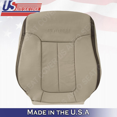 2009 2010 Ford F150 Platinum Driver Top Perforated Leather Cover Med. Stone Gray