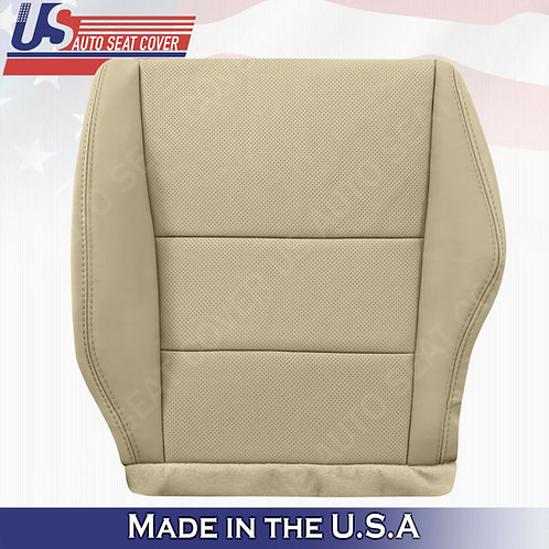 2007-2012 Acura RDX Driver bottom perforated leather in tan seat cover